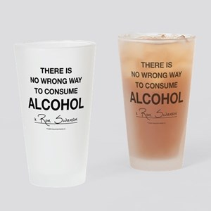 Parks And Recreation No Wrong Way Drinking Glass